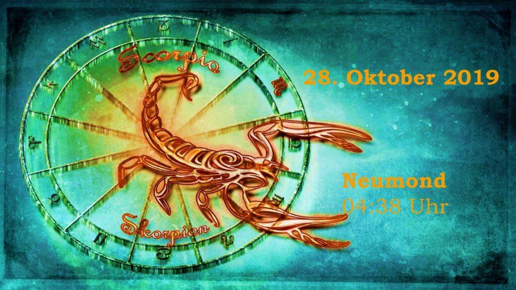 Der Neumond im Skorpion am 28. Oktober