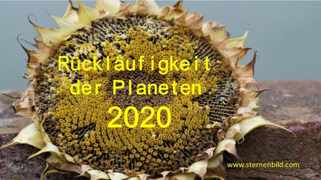Rückläufigkeit der Planeten 2020