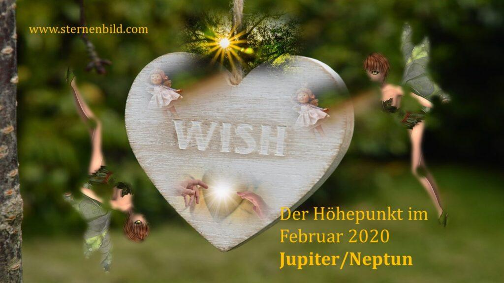 Jupiter/Neptun Höhpunkt Februar 2020